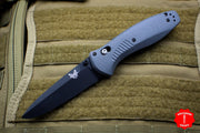 Benchmade Barrage Axis-assisted Gray Single Edge Black Body 580BK-2