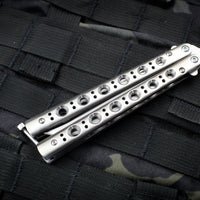 Benchmade 63 Butterfly Balisong Satin Bowie Blade Stainless Steel Handles 63