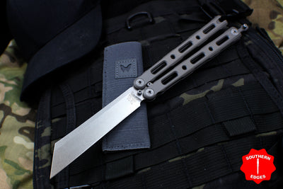 Benchmade 87 Butterfly Balisong Satin Wharncliffe Blade and Titanium Handles 87