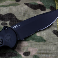 Benchmade Auto AFO II Black Part Serrated Drop Point Black Body 9051SBK