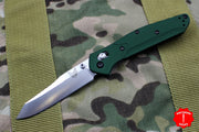 Benchmade Osbourne Satin Reverse Tanto Green w Purple Backspacer Axis lock folder 940