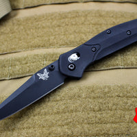 Benchmade Osbourne Black Clip Point w Blue Backspacer Axis lock folder 943BK