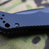 Benchmade Auto Rukus II Black Drop Point Black Body 9600BK