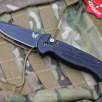 Benchmade Auto AFO II Black Drop Point Black Body 9051BK