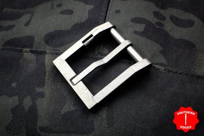 Blackside Customs Blasted Stainless Steel Modular Belt Buckle - with Hidden Handcuff Key