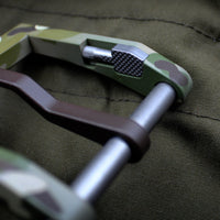 Blackside Customs Green Multicam Modular Belt Buckle - Aluminum with Hidden Handcuff Key
