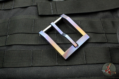 Blackside Customs Modular Belt Buckle - Titanium- Flamed