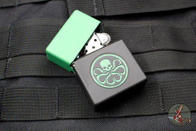 Blackside Customs Brass Lighter - Hydra Green Edition
