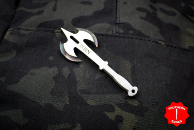 Burn Knives Battle Axe Bottle Opener Keychain