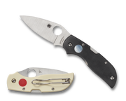 Spyderco Chaparral Sun & Moon G-10 Handle Satin Flat Ground Lockback Knife C152GSMP