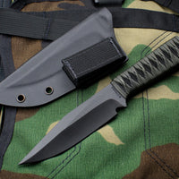 Strider Knives WP Clip Point Fixed Blade with Bastinelli Knives Cord-wrapped Handle