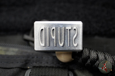 DB Customs Aluminum Bottle Opener - Solo Stupid Stamp