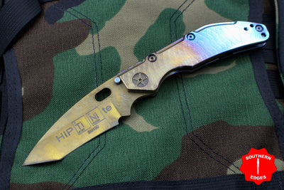 Duane Dwyer Custom Goods BBN-L custom folder SM-100 Recurve Tanto Blade