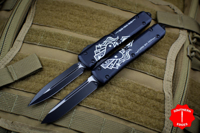 Microtech Dead Man's Hand Two Knife Set of Ultratechs OTF Knife SN 94