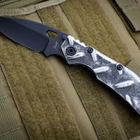 Duane Dwyer Custom Goods BBN-L custom folder Magnesium Handle Black Bowie V-Grind Blade
