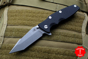 "Hinderer Eklipse 3.5"" Black G-10 With Harpoon Tanto Working Finish Blade Tri-Way Pivot System"