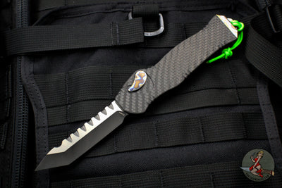 Heretic Hydra Tanto Edge OTF Carbon Fiber with Flamed Hardware H006-11A-CF/FTi