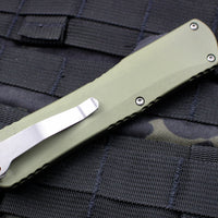 Heretic Manticore-X OTF Auto Green Tanto Edge with Stonewash Blade H031-2A-GREEN