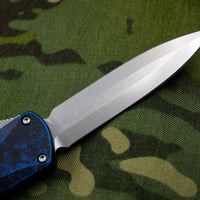 Heretic Manticore-X OTF Auto Breakthrough Blue Double Edge With Stonewash Blade H032-2A-BRKBL