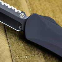 Heretic Manticore-X OTF Auto Black Double Edge With DLC Full Serrated Blade H032-6C-T