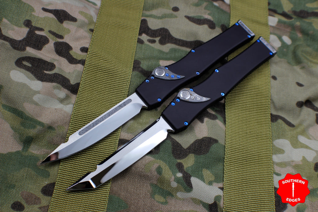 Rare Marfione Custom Halo V Tanto and Single Edge Set Mirror Polish with Meteorite Inlay