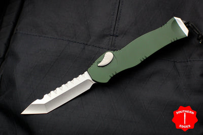 Heretic Hydra Green OTF with Stonewash Tanto Edge H006-2A-GRN