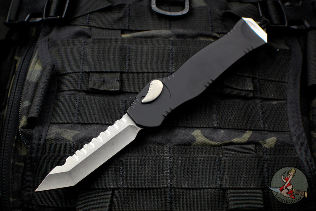 Heretic Hydra Black OTF with Stonewash Tanto Edge H006-2A