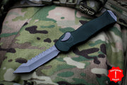 Heretic Hydra Green OTF with Battleworn Tanto Edge H006-5A-GRN