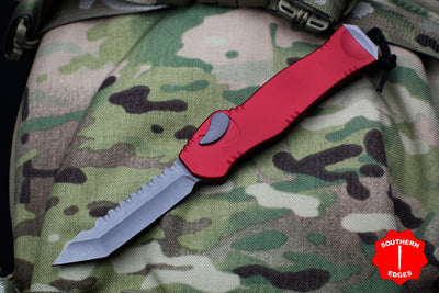 Heretic Hydra Red OTF with Battleworn Tanto Edge H006-5A-RD