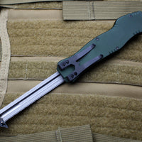 Heretic Hydra Green OTF with Black Tanto Edge and Black Hardware H006-6A-GRN