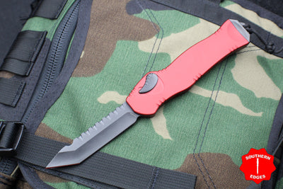 Heretic Hydra Red OTF with Black Tanto Edge and Black Hardware H006-6A-RD