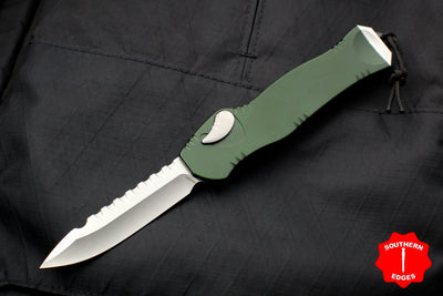 Heretic Hydra Green OTF with Stonewash Single Edge H007-2A-GRN