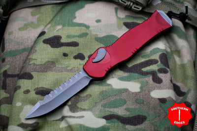 Heretic Hydra Red OTF with Battleworn Single Edge H007-5A-RD
