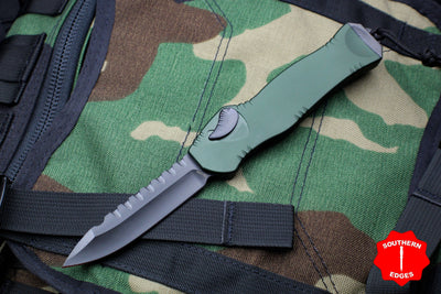 Heretic Hydra Green OTF with Black Single Edge with Black Hardware H007-6A-GRN