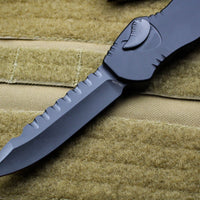 Heretic Hydra Black Tactical OTF with Black Single Edge with Black Hardware H007-6A-T