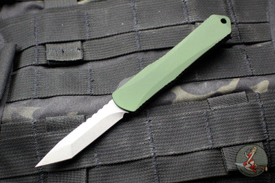 Heretic Manticore-S OTF Auto Green Tanto Edge With Stonewash Blade H023-2A-GRN