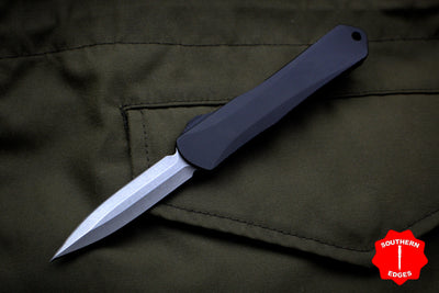 Heretic Manticore-S Black OTF Auto Double Edge Stonewash Blade H024-2A