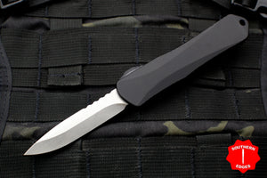Heretic Manticore-E OTF Auto Black Single Edge With Stonewash Blade H026-2A
