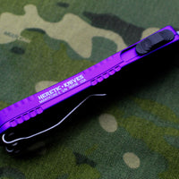 Heretic Manticore-E OTF Auto Purple Double Edge With Battleworn Blade H028-5A-PU