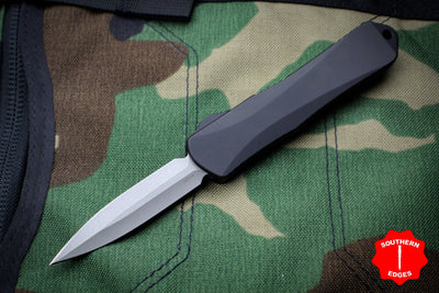 Heretic Manticore-E OTF Auto Black Double Edge With Battleworn Blade H028-5A