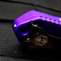 Heretic Manticore-E OTF Auto Purple Double Edge With Black DLC Blade H028-6A-PU