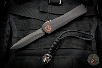 X-Men Heretic Manticore-X Series - Magneto Edition Black Recurve Edge OTF Auto With Special Carbon Fiber Chassis Special Harding Bead DLC Blade H033-6A-MAG