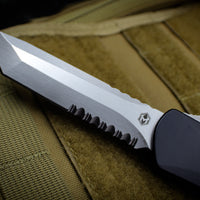Heretic Manticore-X OTF Auto Black Tanto Edge With Stonewash Part Serrated Blade H031-2B