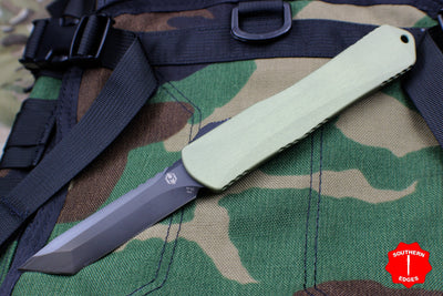 Heretic Manticore-X OTF Auto Green Tanto Edge With DLC Blade H031-6A-GR