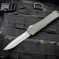 Heretic Manticore-X OTF Auto Breakthrough Green Recurve Edge With Battleworn Part Serrated Blade H033-5A-BRKGR