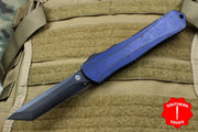 Heretic Manticore-X OTF Auto Breakthrough Blue Tanto Edge With Black DLC Blade H031-6A-BRKBL