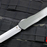 Heretic Manticore-X OTF Auto Breakthrough Green Tanto Edge with Stonewash Blade H031-2A-BRKGR