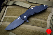 Hinderer Jurassic Slicer Blade Black G-10 Battle Black DLC Finished Blade with Lanyard backspacer Gen 6 Tri-Way Pivot System