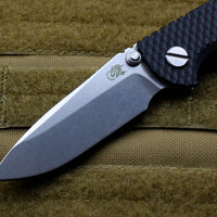 "Hinderer XM-18 3.0"" Non-Flipper Black G-10 With Stonewash Spearpoint Edge Gen 6 Tri-Way Pivot System"