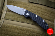 "Hinderer XM-18 3.0"" Non-Flipper Black G-10 With Working Finish Spearpoint Edge Gen 6 Tri-Way Pivot System"